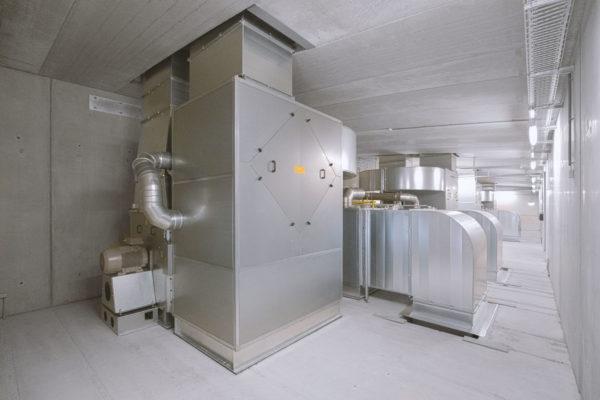 Вентиляционный агрегат WOLF в техническом помещении